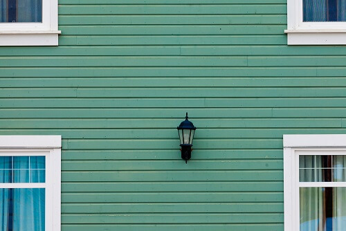 Green Wall with Siding