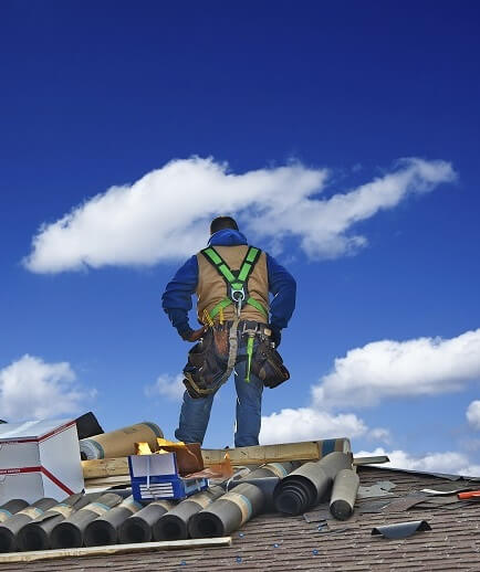 Professional Worker on Rooftop